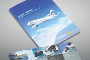 Εκτύπωση διαφημιστικών εντύπων Aegean Airlines